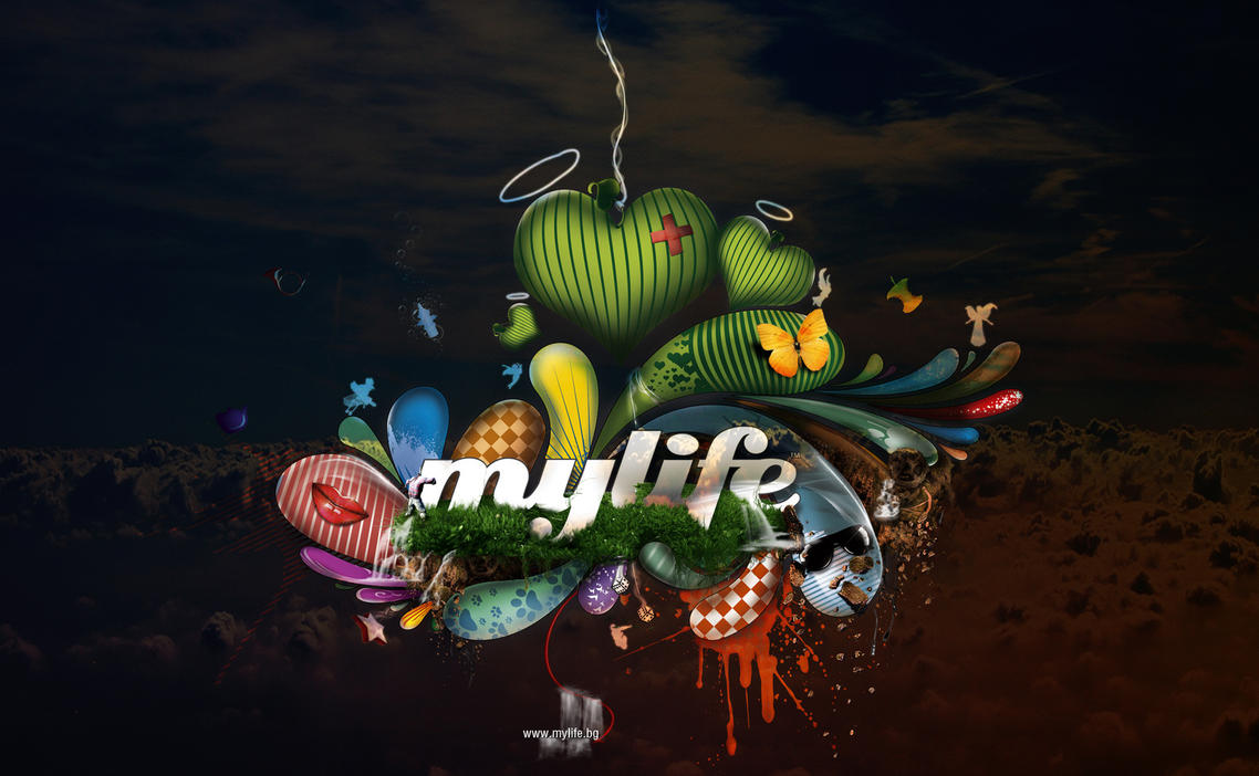 my life magazine wallpaper by CHIN2OFF