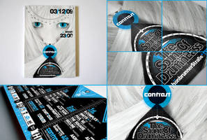 Contrast poster and flyer by CHIN2OFF