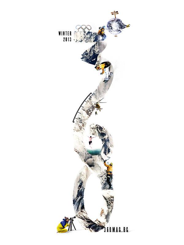 360 magazine dynamic identity by CHIN2OFF