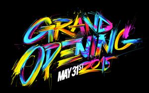 Grand Opening custom lettering