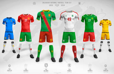 Bulgaria National football team 2016-2018 kit by CHIN2OFF