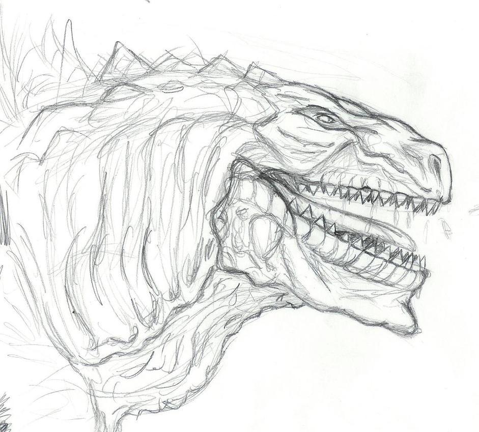 Atractivo Godzilla Para Imprimir Para Colorear Molde - Enmarcado ...