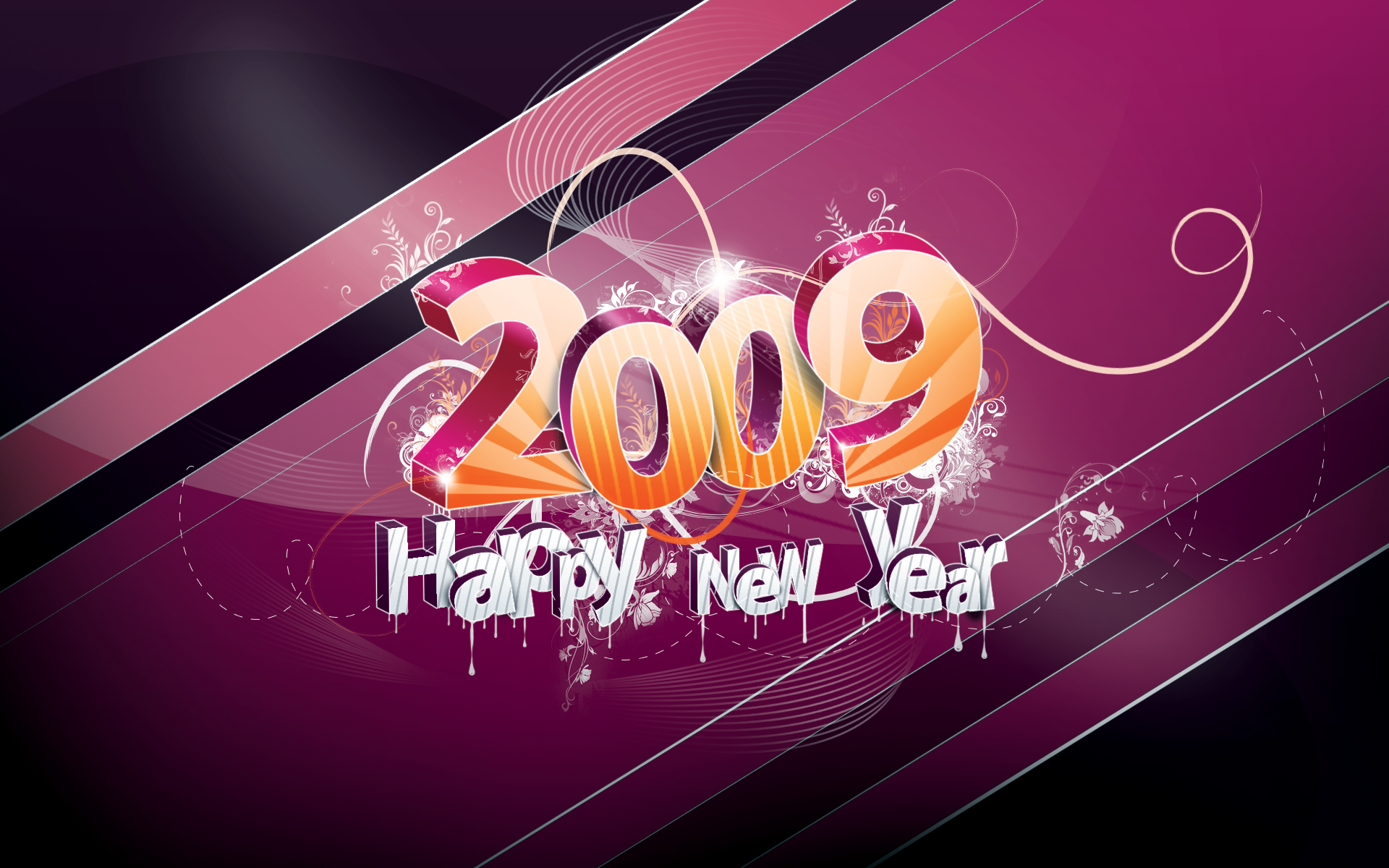 Download: Happy New Year – 2009 HD Wallpaper