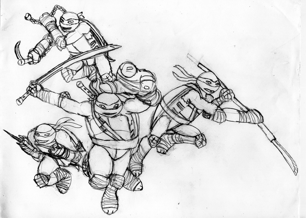 nickelodeon tmnt coloring pages - photo#20