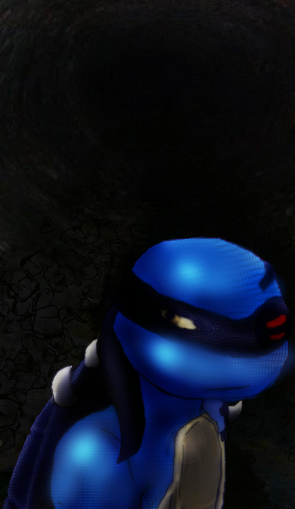 TMNT Fast Forwad Dark Leo 2012 Style 1a by Peacely
