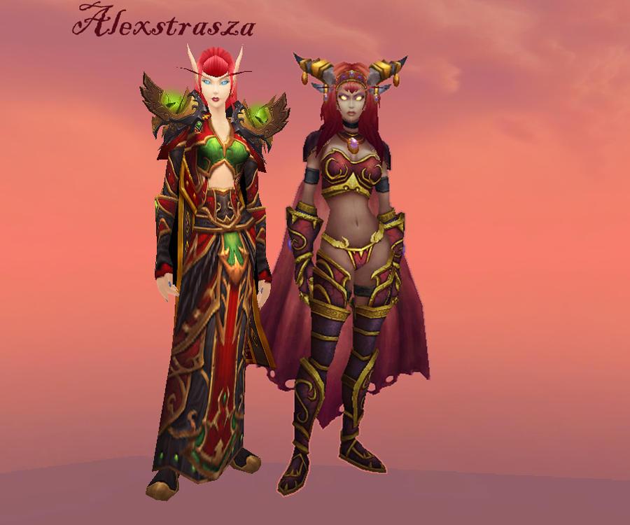 Alexstrasza model comparison by featherunner on DeviantArt