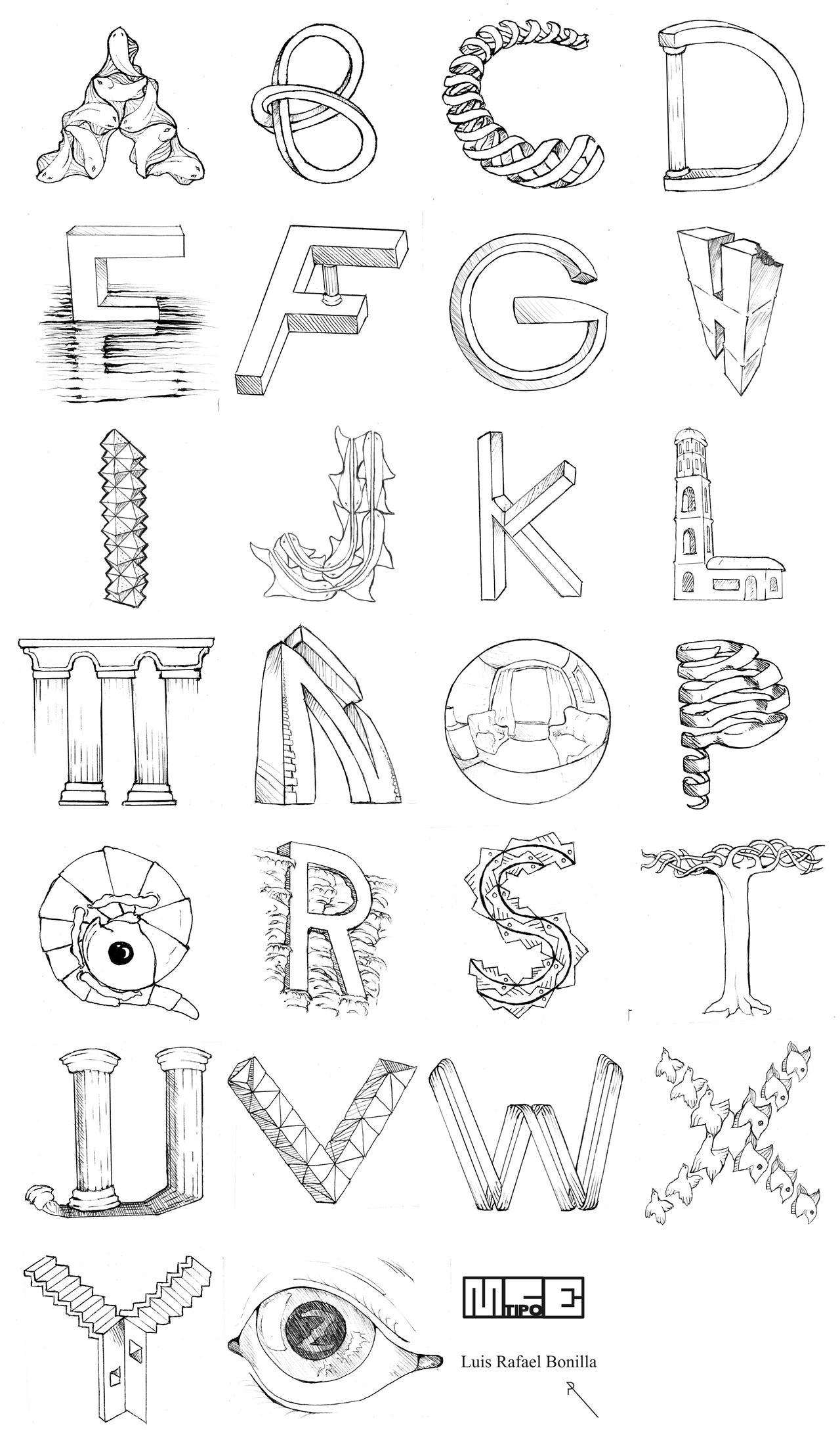 alphabet M.C. Escher