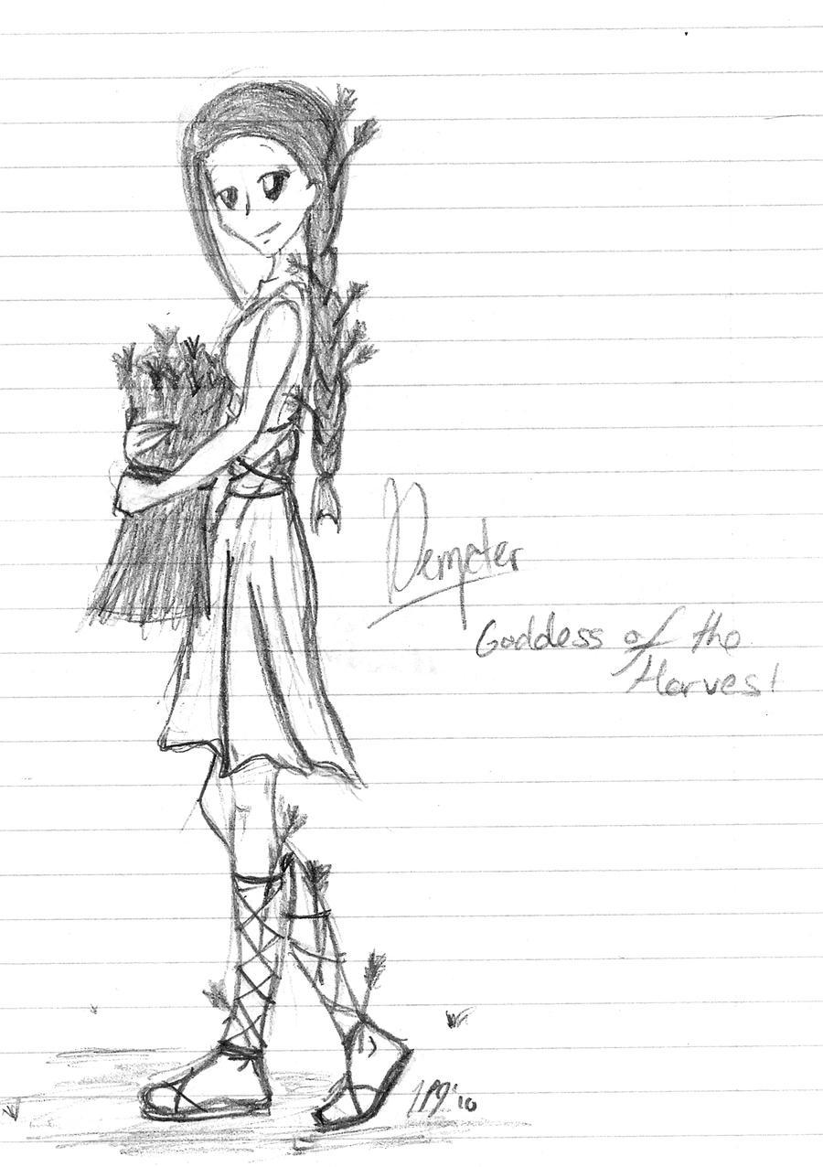demeter greek goddess drawing - photo #8