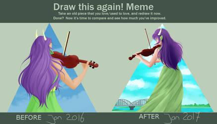 [Meme] Draw this again:: Violin CC