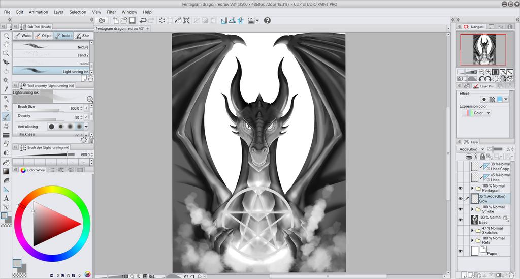 Prntscrn Pentagram Dragon2 by CCDragon-93