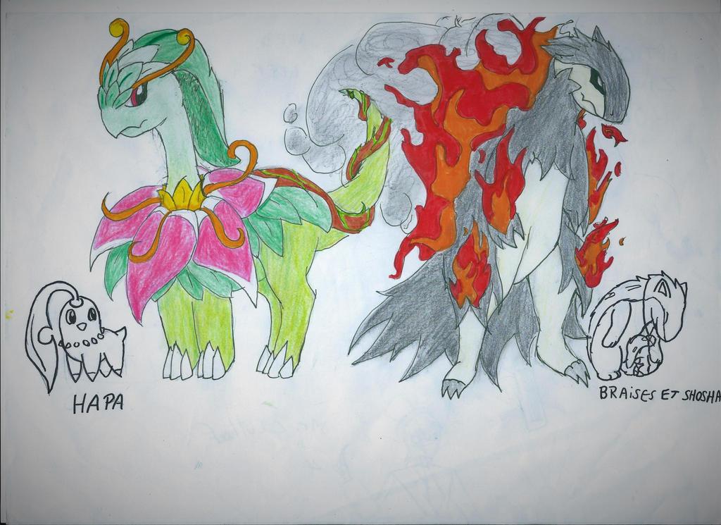 Fake Mega-Meganium and Mega-Typhlosion by Dashiiedash