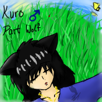 Sleeping Kuro by KuroAkuOokami