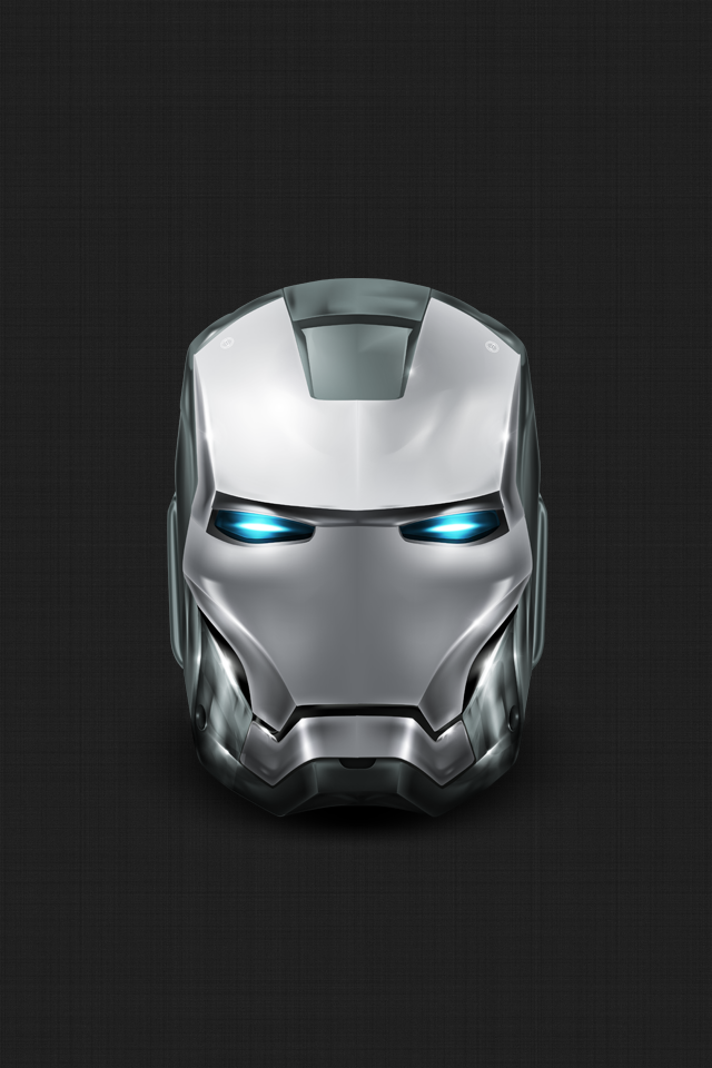 DeviantArt: More Like Silver Iron Man iPhone Wallpaper (non 5) by ...