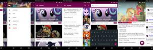 Equestria Daily App Mockup