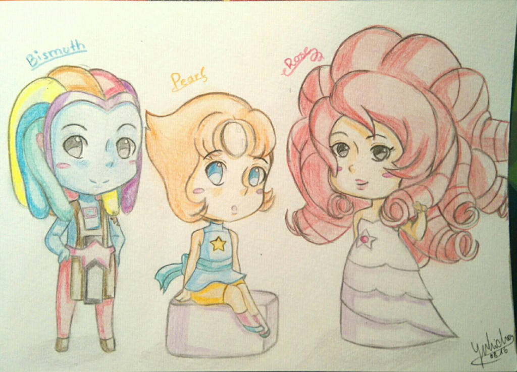 Chibi Pearl, Rose and Bismuth Request