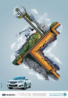 Subaru ad by AhmedGalal