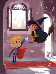 Arthur and the witch by cosmococo
