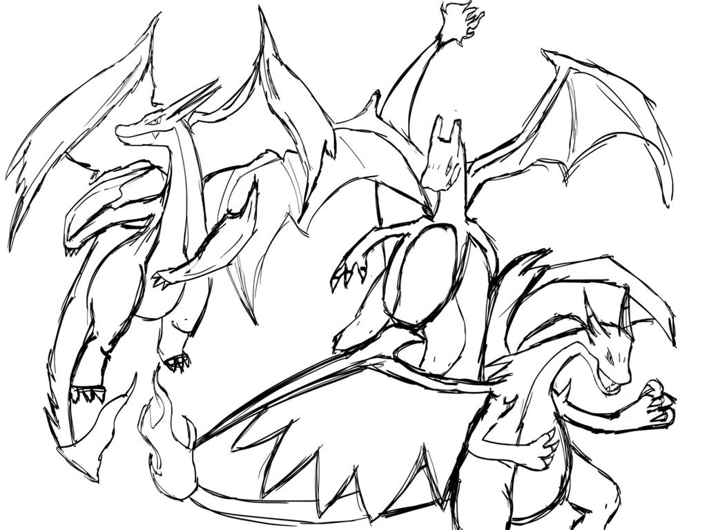 Mega Charizard X and Y WiP by ShiningAster