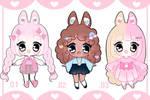 Bunny girls Adoptables | SETPRICE $8 USD OPEN by lilbabytears