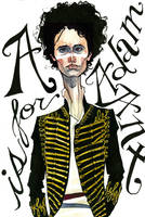 a is for adam ant by inkinthewell