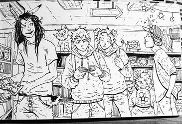 In the comic shop by Harkill
