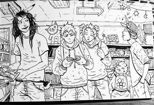 In the comic shop