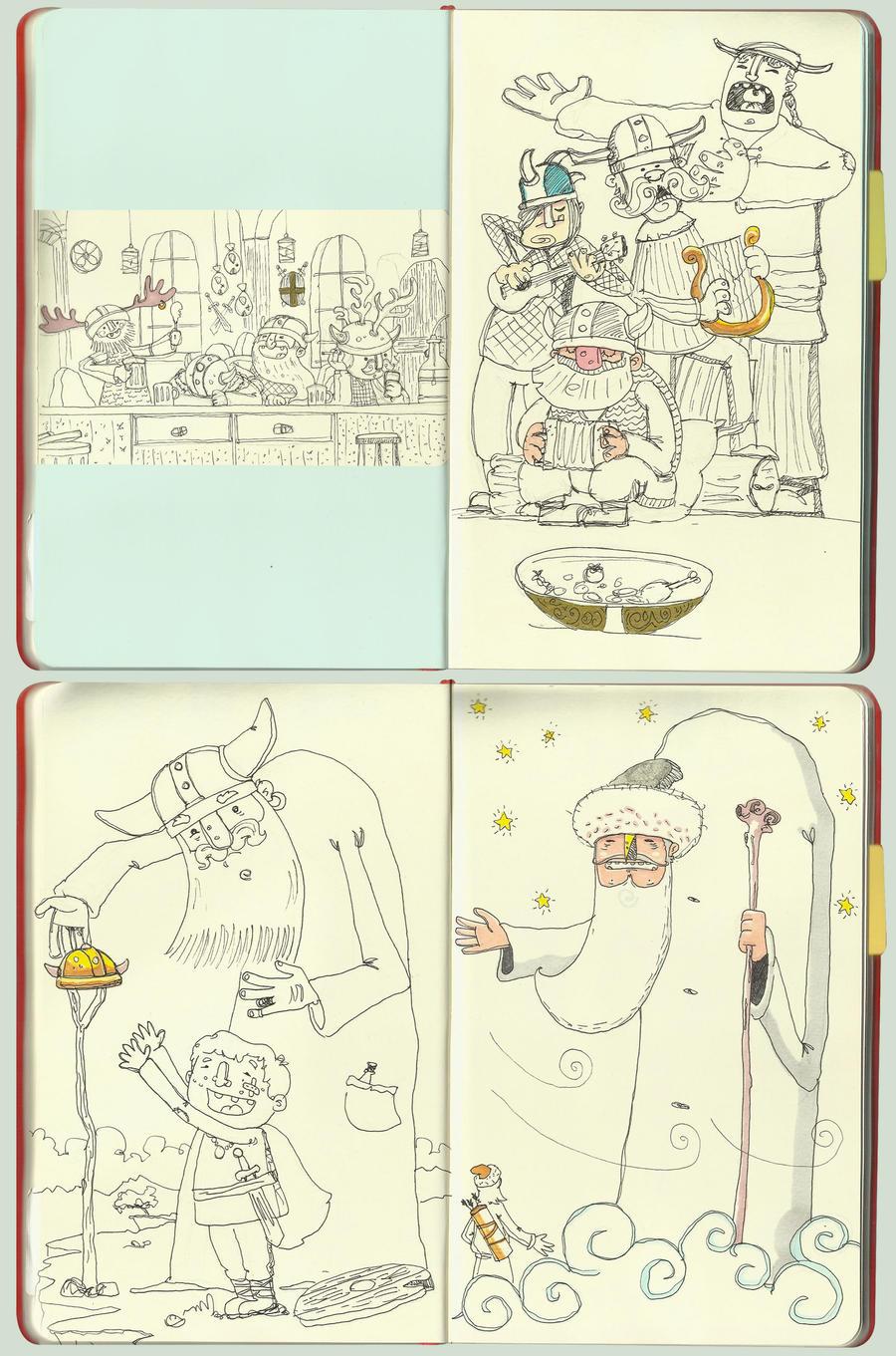 vikings sketchbook by serhatalbamya