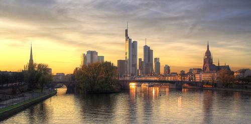 frankfurt evening by ffmdotcom