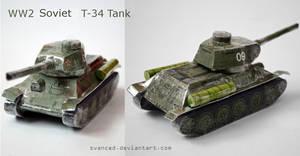 [REQ] WW2 Soviet T-34 Tank Papercraft 2