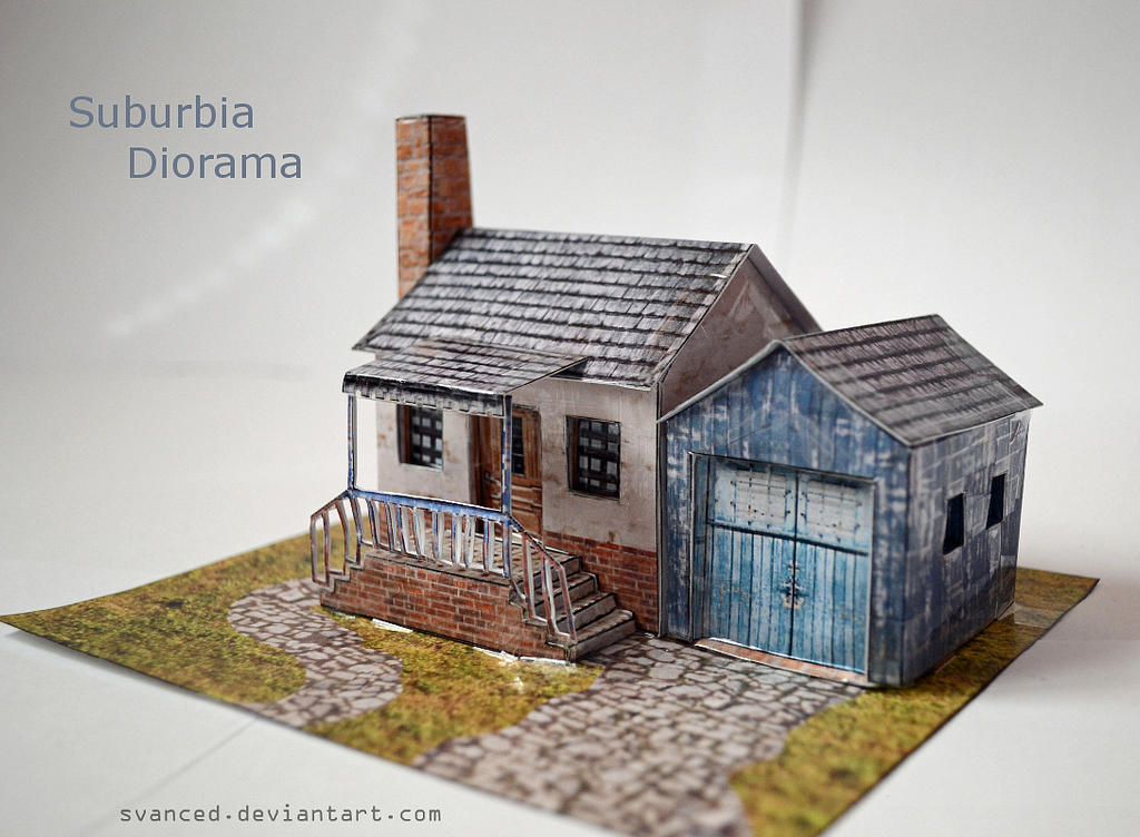 Suburbia Diorama Papercraft 1 +DOWNLOAD by svanced
