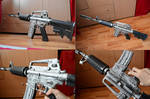 Crossfire M4A1-S Silver Papercraft 2