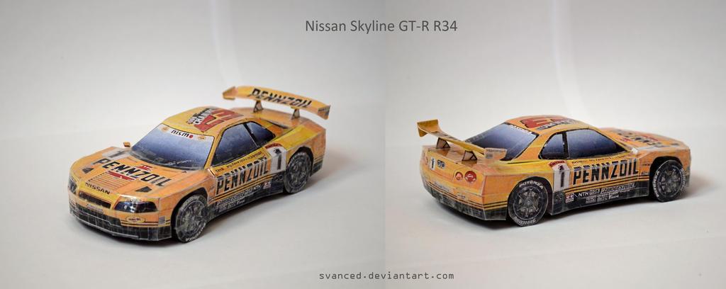 Nissan Skyline GT R R34 Papercraft DOWNLOAD 514622906 on Jdm Drift Underground