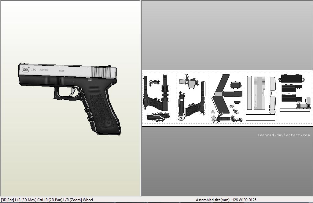 cardboard glock 19 template pdf