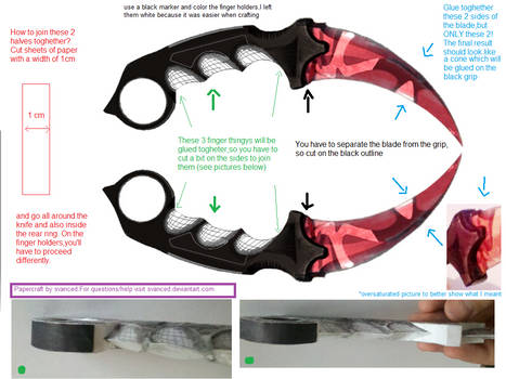 CSGO Karambit Slaughter Template Tutorial