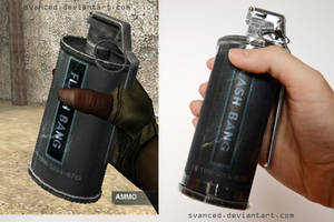Crossfire Flashbang grenade Papercraft 2