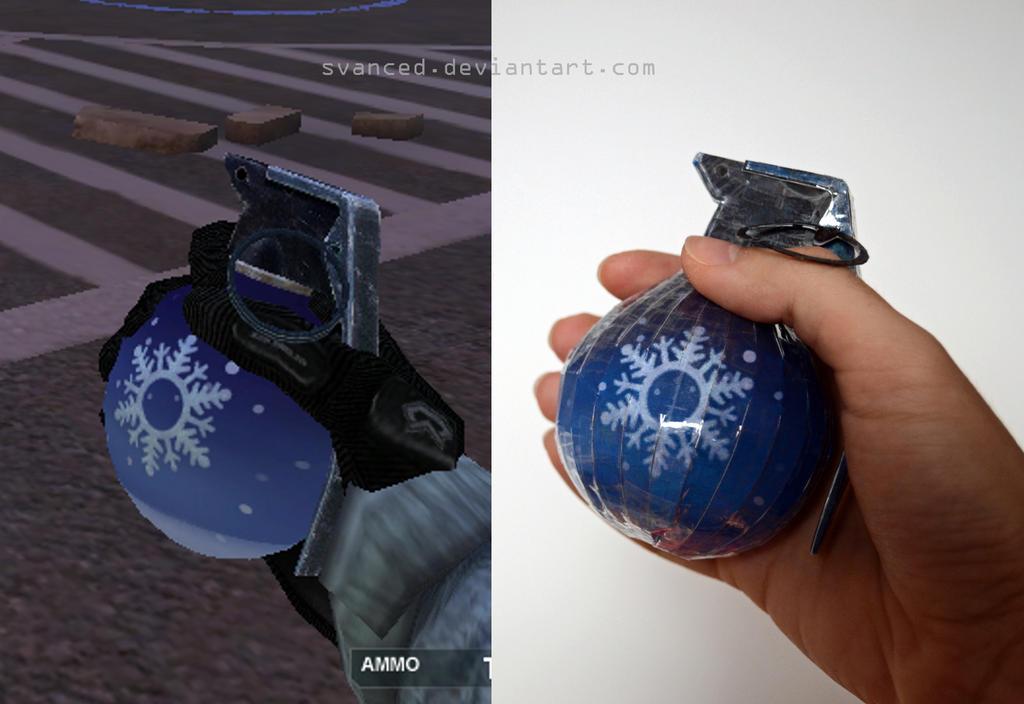 Crossfire Snow grenade Papercraft 2 by svanced