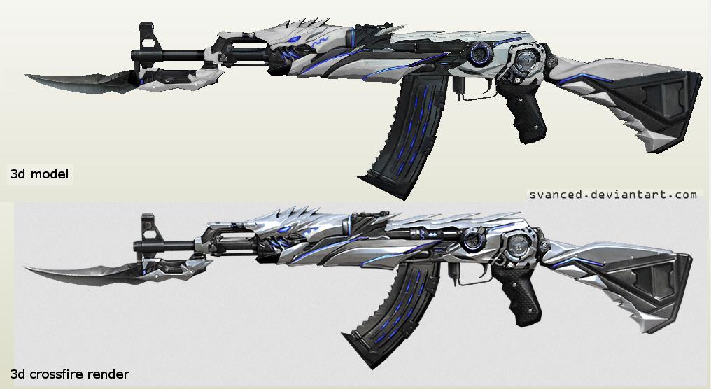 Next project: AK47 Iron Beast Papercraft by svanced