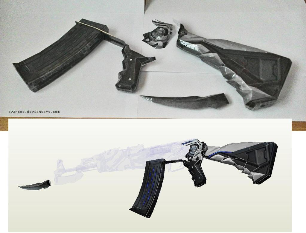 [WIP] Crossfire AK47 Iron Beast Papercraft by svanced