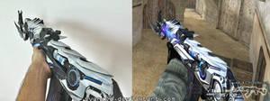 CrossFire AK47 Iron Beast Papercraft 3
