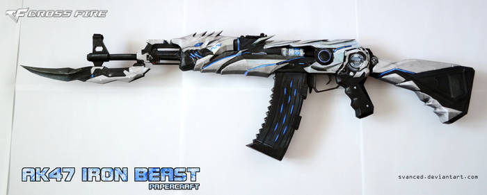 CrossFire AK47 Iron Beast Papercraft 1 + DOWNLOAD by svanced