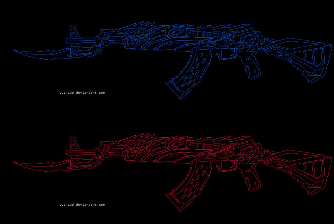 CrossFire AK47 Iron Beast Sketch by svanced