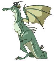 Grumpy Dragon by Dezfezable