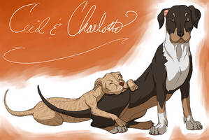 Cecil and Charlotte Gift Art by Dezfezable