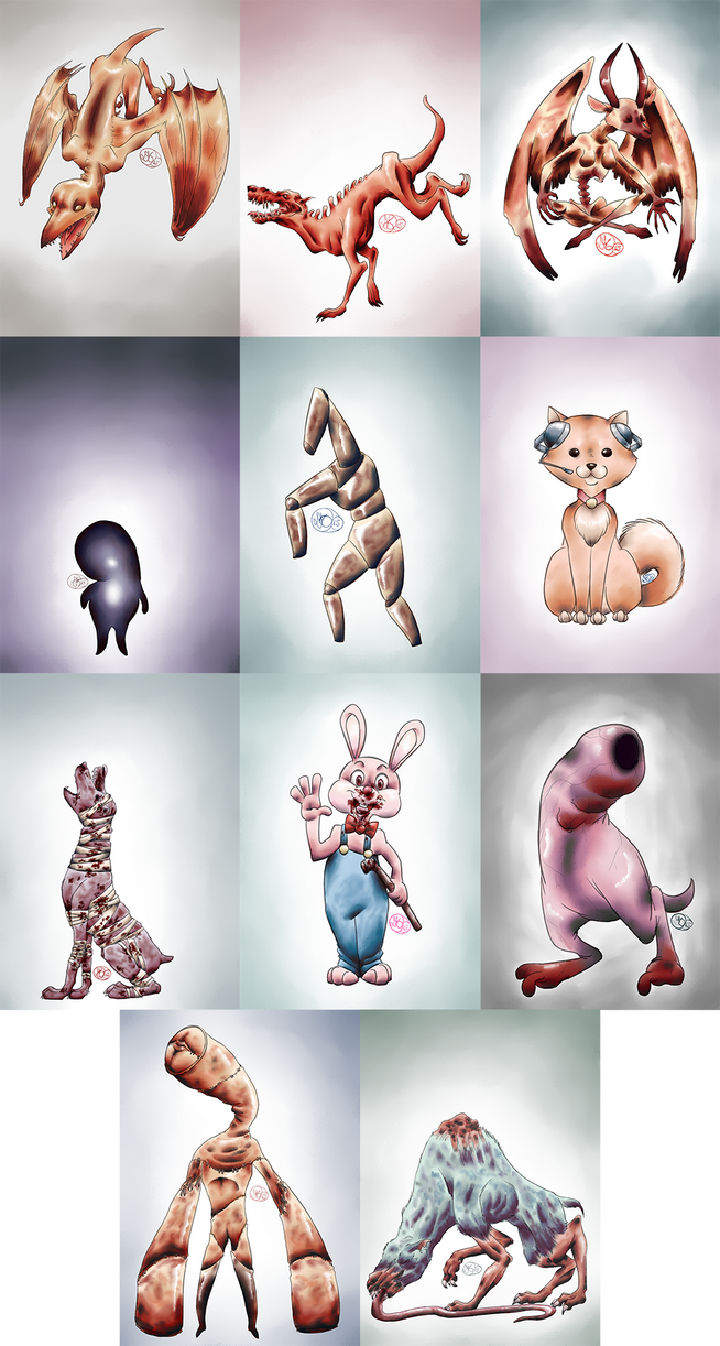 Silent Hill Monster Sketches by Dezfezable