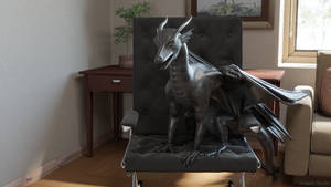 [1/8] Dragon sitting in the chair
