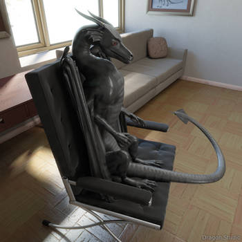 [4/8] Dragon sitting in the chair