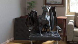 [5/8] Dragon sitting in the chair