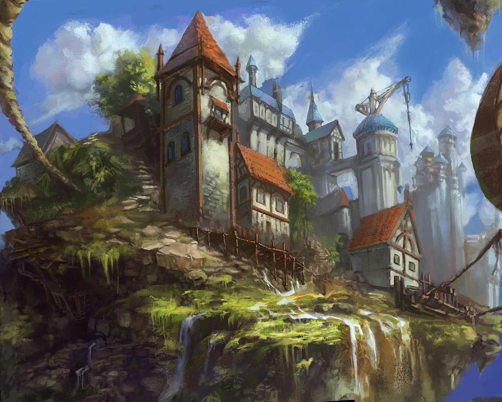 sun castle by tiemao