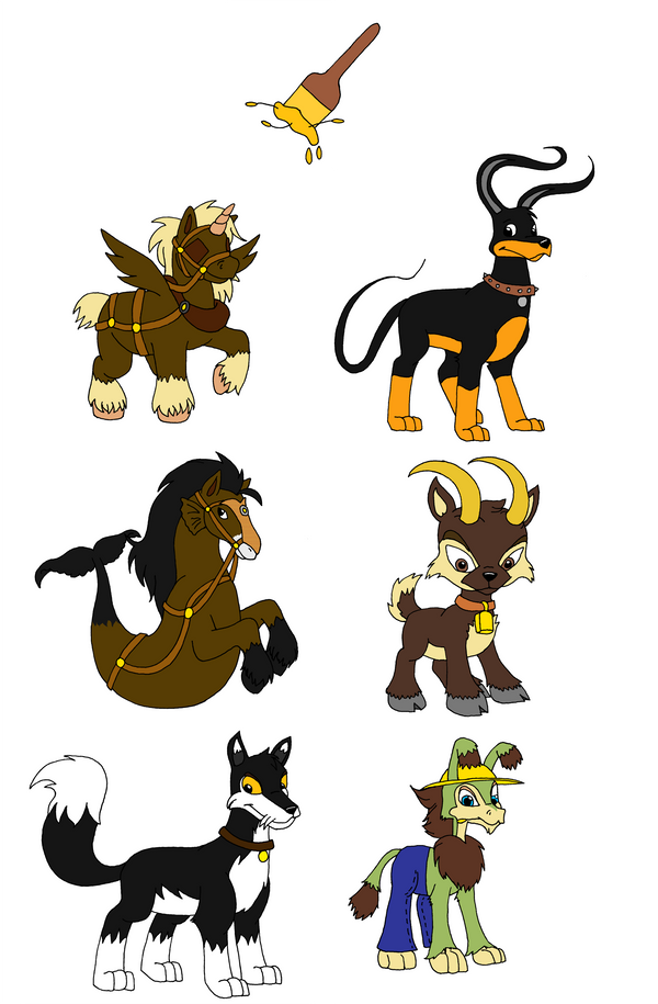 Neopets Lupe Paint Brush