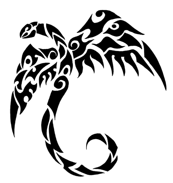 Wallpapers Tribal Animals Animal Tattoo 1024x1024: Snake With Wings Tribal By Chili19 On DeviantArt